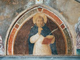 St. Peter Martyr asking for Silence (fresco)