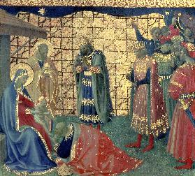 Adoration of the Magi, detail from a predella panel