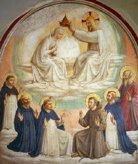 The Coronation of the Virgin, with Saints Thomas, Benedict, Dominic, Francis, Peter the Martyr and P
