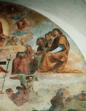 The Last Judgement, detail depicting the Apostles to the left of Christ