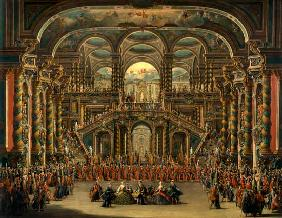 A Dance in a Baroque Rococo Palace