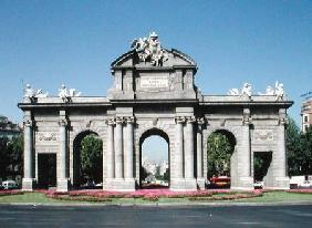 View of the Alcala Gate from the east