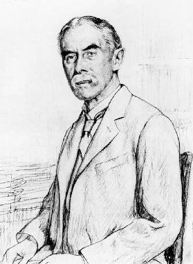 Portrait of Alfred Edward Housman (1859-1936)