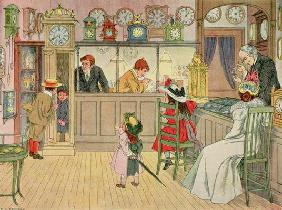 The Jewellery Shop, from 'The Book of Shops', 1899 (colour litho)