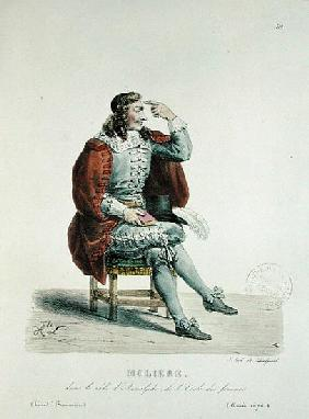 Portrait of Moliere (1622-73) in the role of Arnolfe from ''L''Ecole des Femmes'' at the Comedie Fra