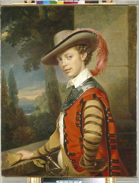 Portrait of Prince Nikolai Saltykov in Fancy Dress