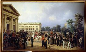 The Imperial Russian Guard in Tsarskoye Selo in 1832