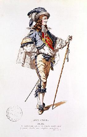 Costume design for ''Don Juan'' Moliere (1622-73)