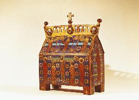 Reliquary chest, 12th-13th century (metal & enamel)
