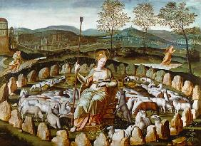St. Genevieve Guarding her Flock