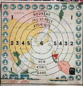 Children's game about atomic weapons, c.1945 (colour litho)