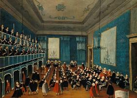 Concert given by the girls of the hospital music societies in the Procuratie, Venice