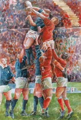 Rugby International, Wales V Scotland (w/c on paper)