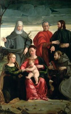 The Mystic Marriage of St. Catherine with St. Francis, St. Clare, St. Cosmas and St. Damian