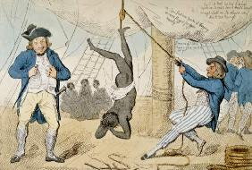The Abolition of the Slave Trade, 1792 (hand-coloured etching)
