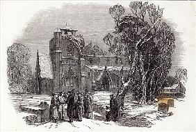 Christmas morning: Going to Church; engraved by W.J. Linton, from ''The Illustrated London News'', 2