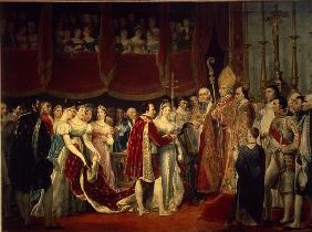 The marriage ceremony of Napoleon I and Archduchess Marie-Louis on 2nd April 1810