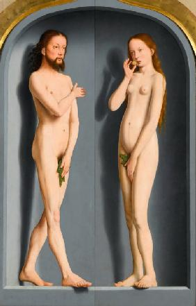 Adam and Eve (Sedano Family Triptych, exterior panels)