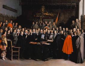The Swearing of the Oath of Ratification of the Treaty of Munster