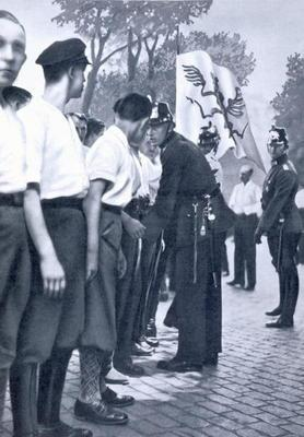 SA members are searched by Prussian Police in Berlin, from 'Deutsche Gedenkhalle: Das Neue Deutschla