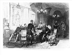 War council at Versailles Prefecture on 6th December 1870, illustration from ''Illustrierte Zeitung'