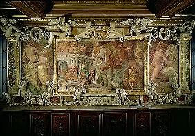 The Triumphal Elephant, an allegorical tribute to Francis I, detail of decorative scheme in the Gall