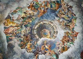 The Gods of Olympus, trompe l'oeil ceiling from the Sala dei Giganti