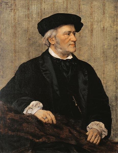 Portrait of Richard Wagner (1813-83)