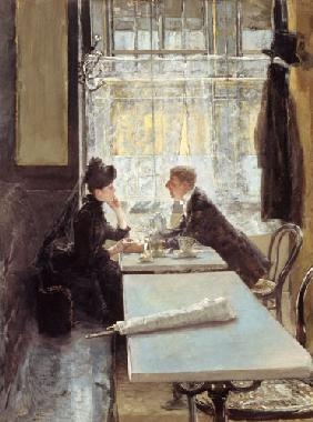Lovers in a Cafe (panel)