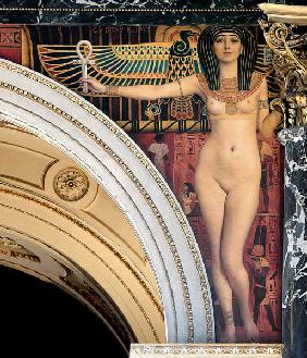 Egypt I. Spandrel above the grand staircase, Kunsthistorisches Museum, Vienna