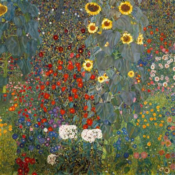 Farm garden with sunflowers  Gustav Klimt 1905-06