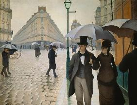 Street in Paris, Rain