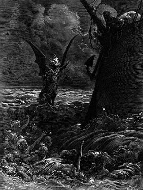 Death-fires dancing around the becalmed ship, scene from ''The Rime of the Ancient Mariner'' S.T. Co