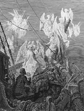The mariner sees the band of angelic spirits, scene from ''The Rime of the Ancient Mariner'' S.T. Co