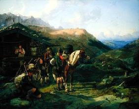 Departure from the Alpine Pasture