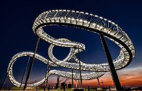 Tiger and Turtle at dawn