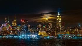 Super Blue Moon 2018, New York City