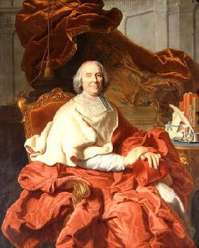 Cardinal Fleury (1653-1743) (oil on canvas)