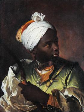 Young Negro with a Bow, c.1697 (oil on canvas)