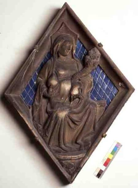 Charity relief panel from the campanile italian school als kunstdruk of als handgeschilderd - Muur reliefpaneel ...