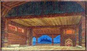 Stage design for the opera Ruslan and Lyudmila by  M. Glinka