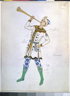 Costume design for the opera The Legend of the Invisible City of Kitezh and the Maiden Fevronia by N