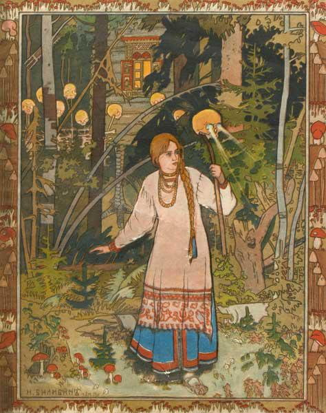 "Vasilisa the Beautiful (Illustration to the book ""Vasilisa the Beautiful"")"