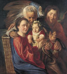 The Holy Family with an Angel