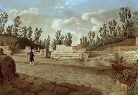 Pompeii, Road of tombs , Hackert