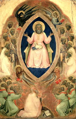 God the father enthroned from the polyptych of the apocalypse, after