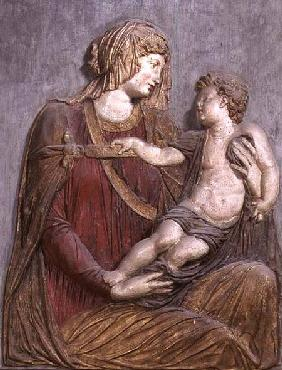 Madonna and Child, relief