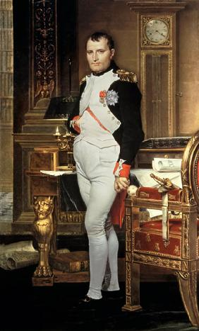 Napoleon Bonaparte (1769-1821) in his Study