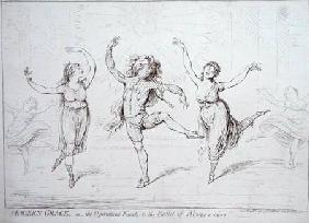 Modern Grace, or the Operatical Finale to the Ballet of Alonzo e caro