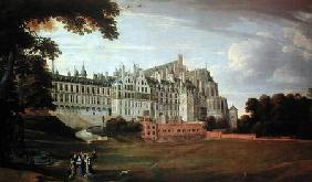 Infanta Isabella Clara Eugenia (1556-1663) Strolling in the grounds of the Palace in Brussels